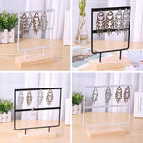 Wooden Metal Jewelry Display Rack Stand for Fashion Ear Hook Drop Earrings Showcase