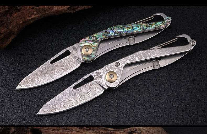 The poker knife damascus knife 15CM