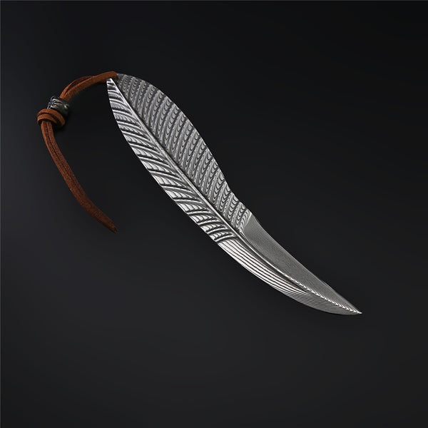 The Feather Damascus Steel Fixed Blade