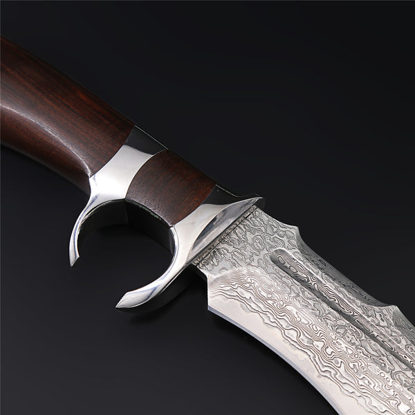 The Zeal Damascus Steel Fixed Blade