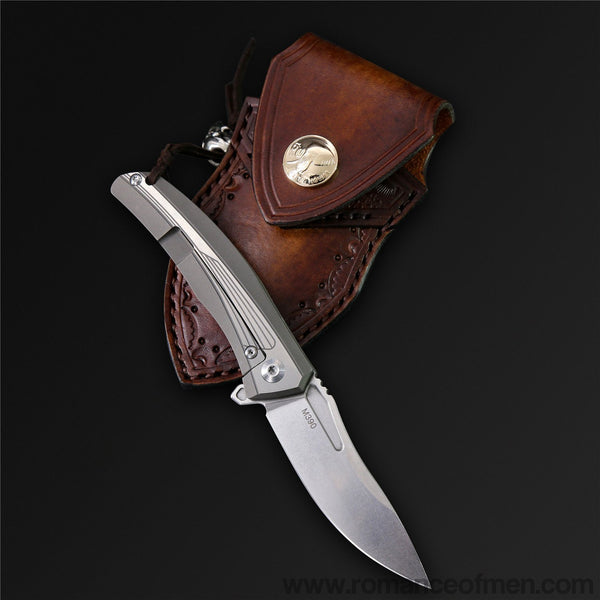 The Battleship M390 Steel Folding Knife-Romance of Men