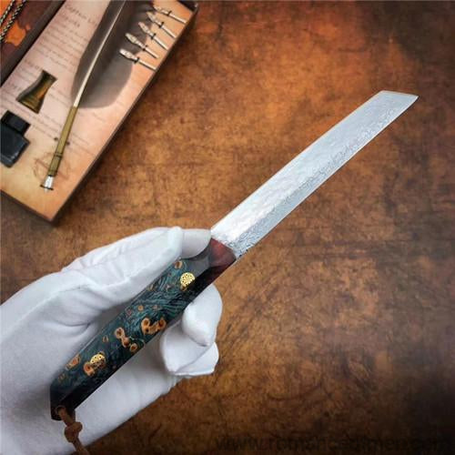 The vital Damascus samurai knife 21CM-Romance of Men