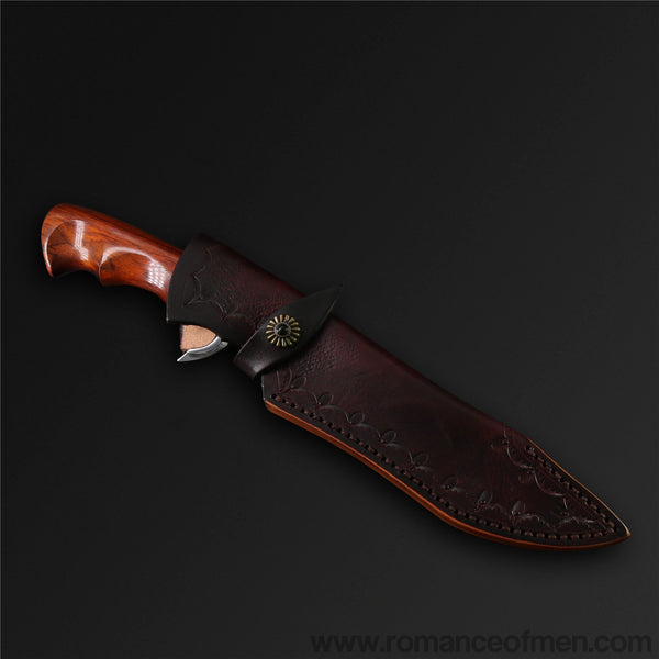 The Musou Damascus Steel Fixed Blade-Romance of Men