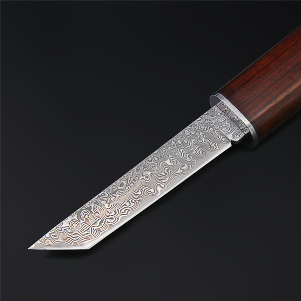 The Miyamoto Warrior Damascus Steel Fixed Blade