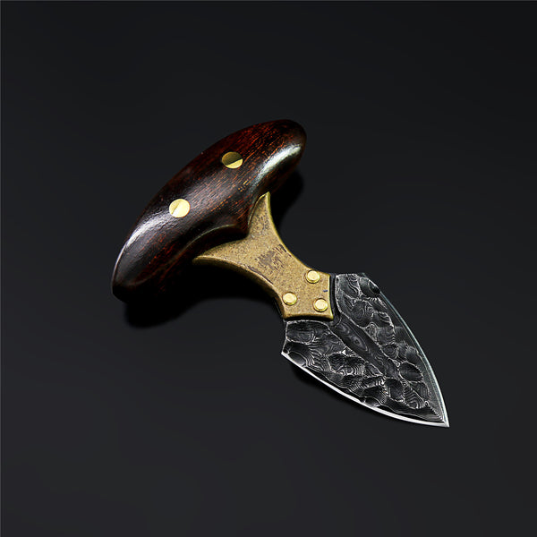 The Alien Damascus Steel Fixed Blade