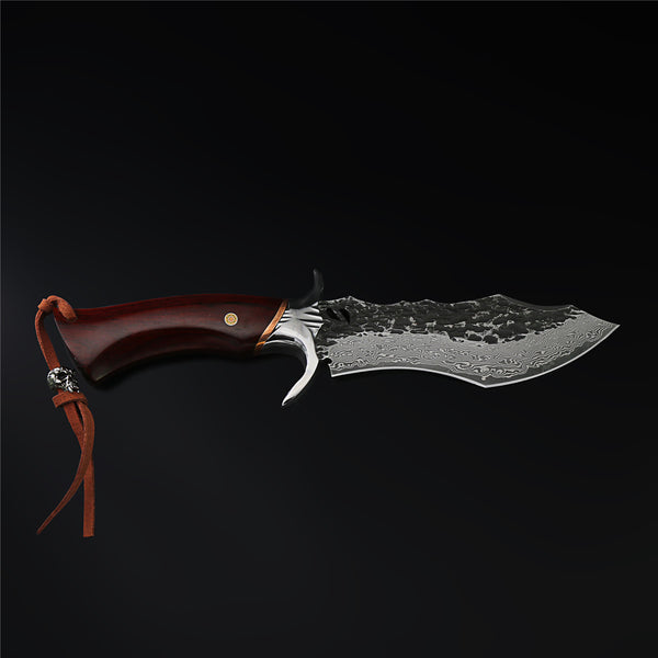 The Warhorse Damascus Steel Fixed Blade