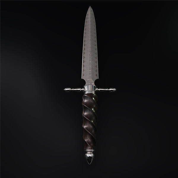 The Cross Damascus Steel Fixed Blade