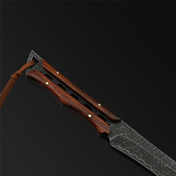 The Devil Damascus Steel Fixed Blade