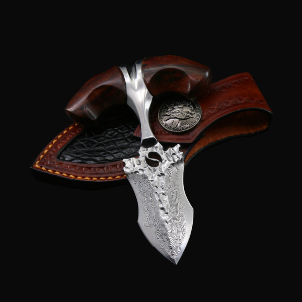 The Throne Damascus Steel Fixed Blade