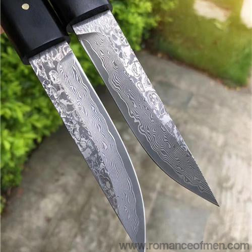 The okamoto warrior damascus pocket samurai knife 20 CM-Romance of Men