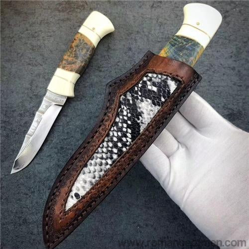 The Liberty Damascus steel fixed blade-Romance of Men