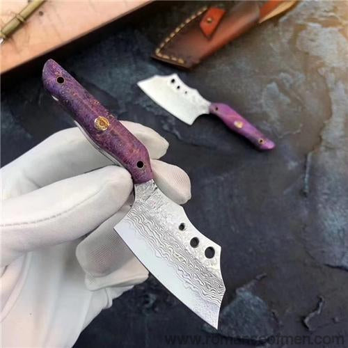 The dragonrita Damascus steel pocket knife-Romance of Men