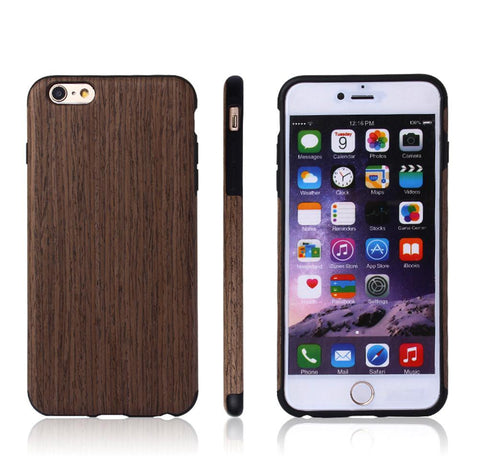 Wooden Shock-Absorption iPhone Case
