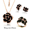 Image of Rose Enamel Jewelry Set
