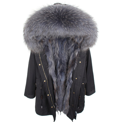 Maomaokon Fur Lined Winter Jacket