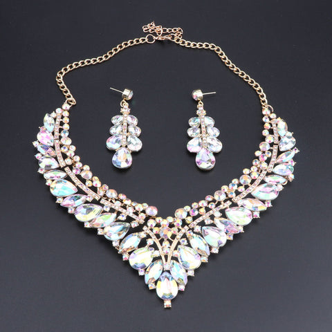 Aura Borealis Crystal Jewelry Set