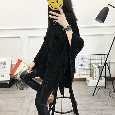 Knitted Poncho