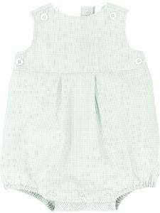 celery green gingham bubble with celery gingham teething bib