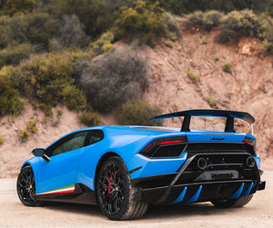 LAMBORGHINI HURACAN PERFORMANTE 1016 INDUSTRIES REAR DIFFUSER CAPS