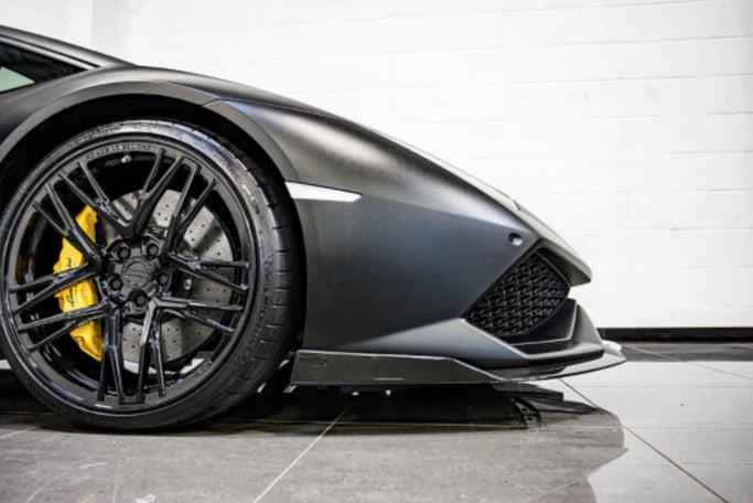 LAMBORGHINI HURACAN NERO DESIGN AERO KIT + WHEELS