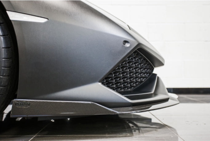 LAMBORGHINI HURACAN NERO DESIGN AERO SIDE SKIRTS