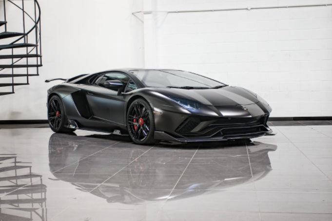 LAMBORGHINI AVENTADOR S NERO DESIGN AERO KIT + WHEELS