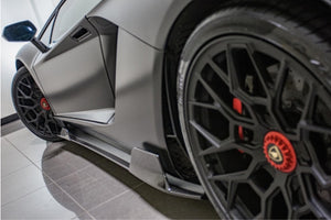 LAMBORGHINI AVENTADOR S NERO DESIGN SIDE SKIRTS