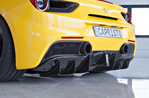 FERRARI 488 CAPRISTO - CARBON FIBRE TAILPIPE UPGRADE SET