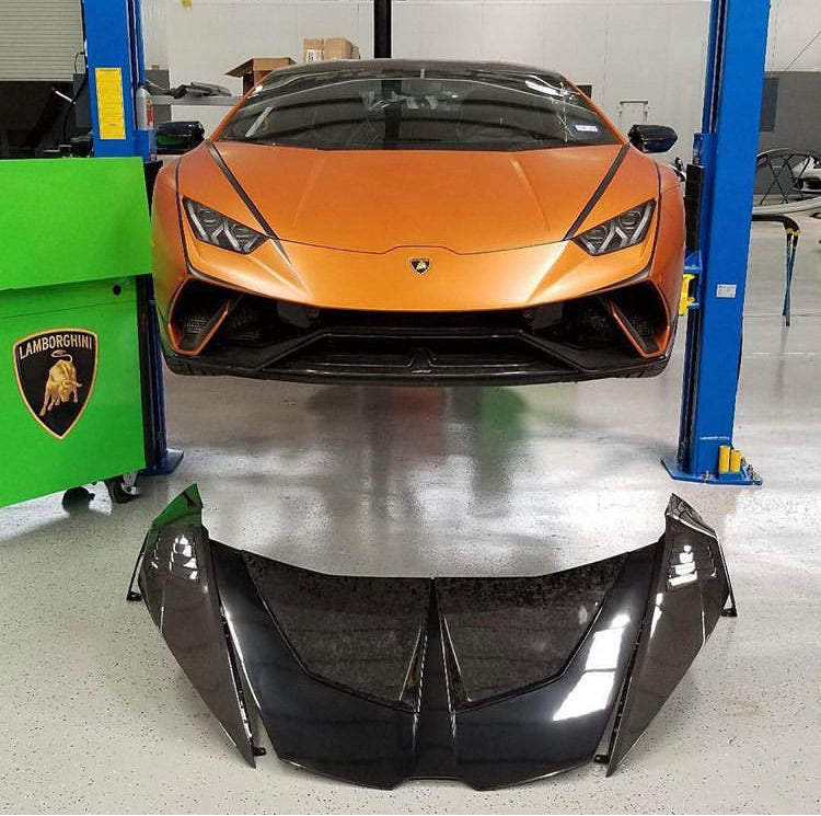 LAMBORGHINI HURACAN & PERFORMANTE HOOD / BONNET 1016 INDUSTRIES (FORGED CARBON)