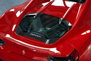 FERRARI 488 CAPRISTO - ENGINE BONNET IN CARBON & GLASS