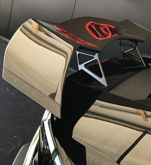 LAMBORGHINI HURACAN NERO DESIGN AERO KIT WING ASSEMBLY + WHEELS