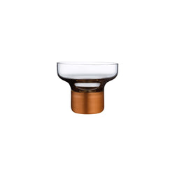 Contour@Bowl High Foot with Clear Top and Copper Base