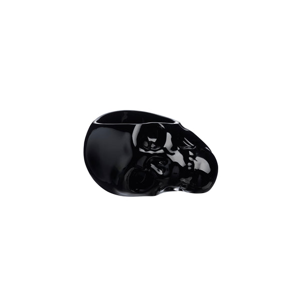 Memento Mori@Faceted Skull Bowl Black Small