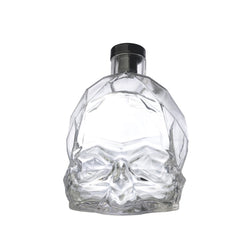 NUDE Memento Mori skull shaped whisky bottle empty front view