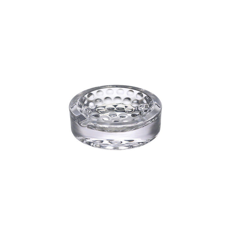 NUDE Ace Ashtray in leadfree crystal with golf pattern on the bottom