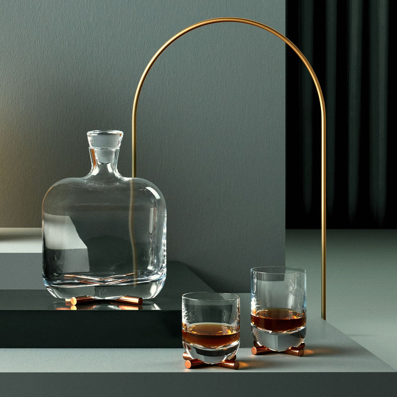 Camp@Whisky DOF Glass With Brass Base