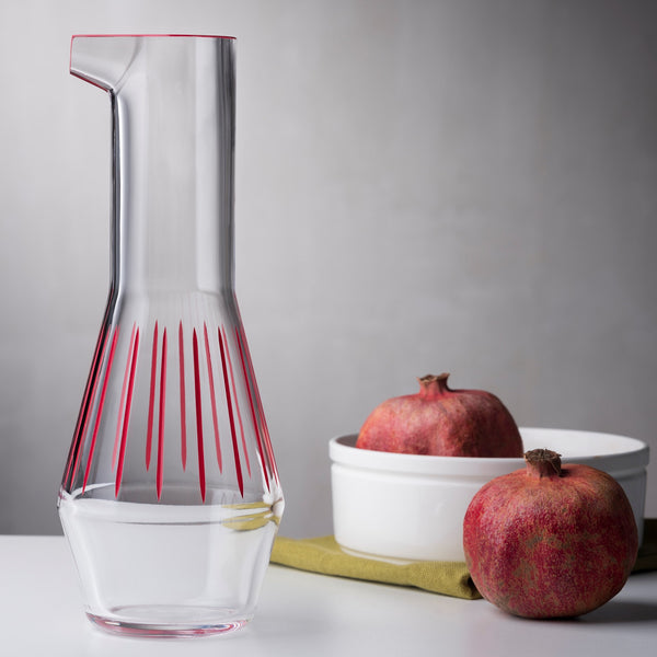 Beak@Carafe Iris Apfel Collection Red Striped