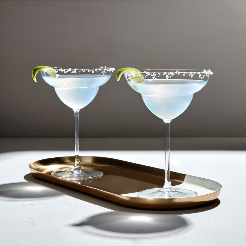 Vintage@Set of 2 Margarita Glasses