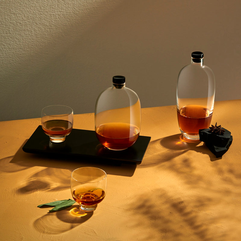 Malt@Whisky Bottle Tall with Wooden Tray