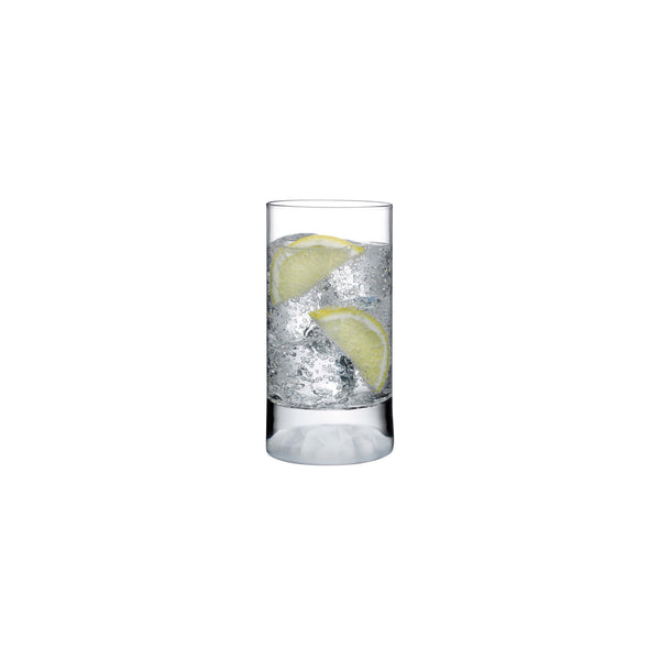 Club Ice@Set of 4 High Ball Glasses Small with Frosted Ripple Effect