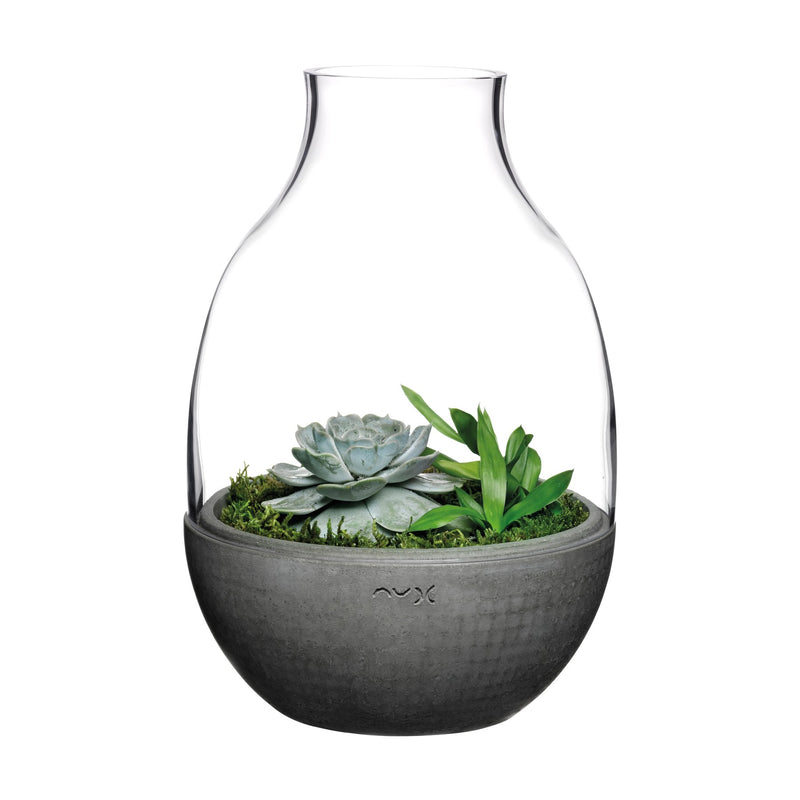 Eden@Terrarium Clear with Moulded Concrete Base