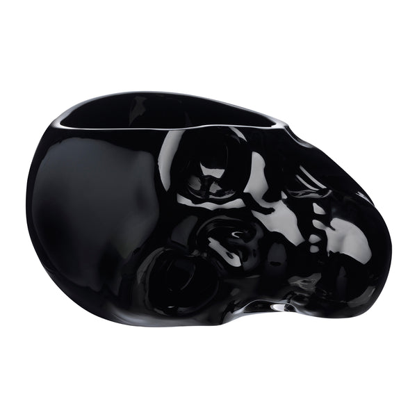 Memento Mori@Faceted Skull Bowl Black Large