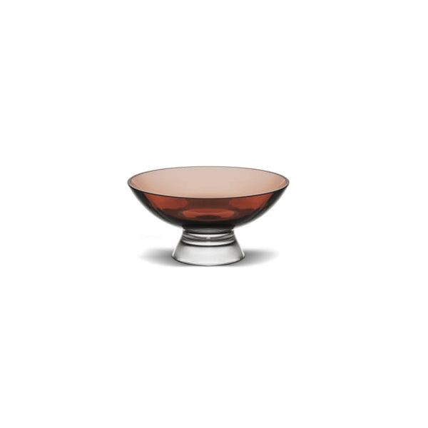 Nude Glass Silhouette Bowl small in caramel lead-free glass