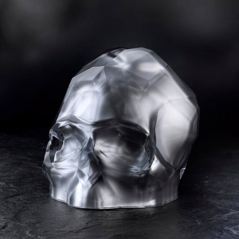 Memento Mori@Faceted Skull Silver Large