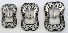 Load image into Gallery viewer, 040119 ZINC Coin Edge Centerbar Buckles