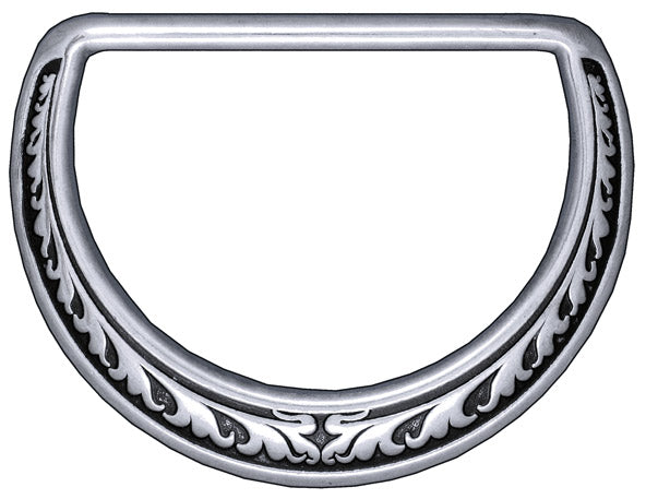04125 Floral Saddle Dee Ring