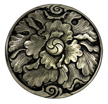 Load image into Gallery viewer, 070416- Peony Concho of bronze by Horse Shoe Brand Tools