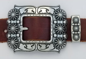 081419-ZINC-Southwest Buckle & Loop set
