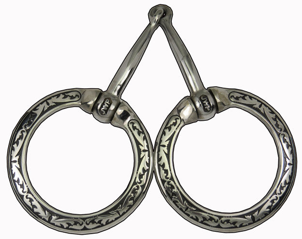 JWP-Fancy Ring Snaffle