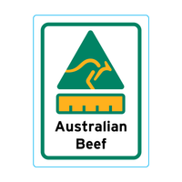 Australian Beef Stickers – 1.9cm x 2.5cm - Country Of Origin Stickers